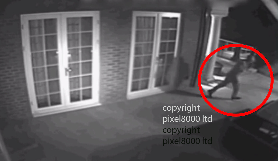 "Pic shows:  CCTV of burglar breaking into home of Lilly Becker wife of Boris - then running away<br /> <br /> ""I will do anything to protect my family but what can I do I am just a skinny little woman"" she told the show<br /> <br /> <br /> CCTV of burglary caught red handed on CCTV as he burgles homes of rich and famous in Wimbledon - including tennis legend Boris Becker<br /> <br /> He's been captured on camera breaking into several multi-million pound homes in south London. He targets the rich and famous and detectives believe he's responsible for over one hundred and forty offences, including at the family home of tennis legend Boris Becker.<br /> <br /> For the past 7 years he's targeted many properties in the Wimbledon area. He spends several days plotting a route into a house, and cuts CCTV cables around the properties so he is not seen. He doesn't take that much the first time he enters, and often the owners of properties are unaware that they have been burgled. The suspect often uses ladders to scale fences and break in through upstairs windows.<br /> CCTV images show him as far back as 2008, in some of the footage he has his hand to his mouth. Officers think he was recording notes on a dictaphone that he can then use the next time he breaks in. On the 29th March last year he burgled a home in Bathgate Road, Wimbledon, he got away with a quantity of cash and jewellery. He was caught on CCTV when he opened a door, he was clearly not expecting to see the camera.<br /> In another clip he's seen casually walking around a kitchen where he takes his time inspecting drawers. The intruder wears a tracksuit, gloves and a hat.<br /> In October this year the burglar was caught on CCTV attempting to get into the home of Boris Becker on Wimbledon Common. This was about 00:50hrs. The alarm goes off, and he escapes. But officers know he's tried to gain entry to the house on another occasion afterwards.<br /> <br /> <br /> <br /> <br /> Picture by BBC  - Pixel8000 07917221968"
