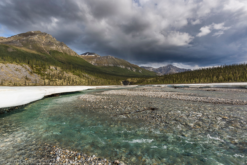 Crystal clear water of the Mathews River, Arctic, Alaska