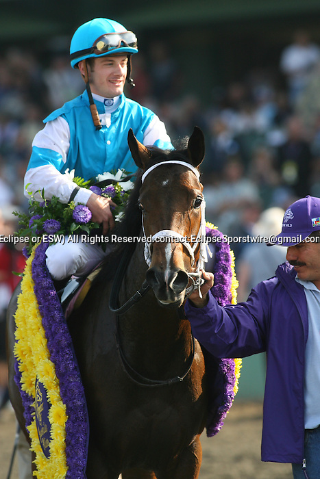 6 November 2009: Jockey Julien Leparoux and She Be Wild win the Grey Goose Breeders' Cup Juvenile Fillies at Santa Anita Race Track in Arcadia, CA...