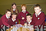 ANSWERS:Pupils of Glenderry NS Ballyheigue who took part in the Clanmaurice Credit Union N.S table quiz  finals at Causeway Comprehensive Gym on Sunday l-r:Emmet Christie, Tomás Gaynor, Aisling Harty, Evan Casey, Graham Slattery and Shane Lawless.