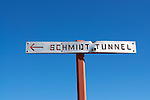 Sign for Burro Schmidt Tunnel