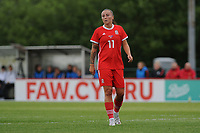 Natasha Harding of Wales Women's' during the Women's International Friendly match between Wales and New Zealand at the Cardiff International Sports Stadium in Cardiff, Wales, UK. Tuesday 04 June, 2019