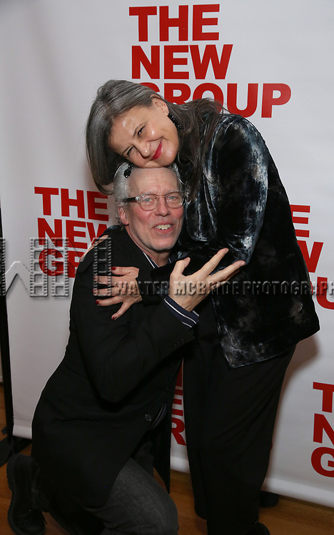 """Terrence Mann and Tracey Ullman attends the Off-Broadway Opening Night Premiere of  """"Jerry Springer-The Opera"""" on February 22, 2018 at the Green Fig Urban Eatery in New York City."""