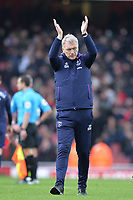 West Ham Manager David Moyes At the Final Whistle Applause Fan's during Arsenal vs West Ham United, Premier League Football at the Emirates Stadium on 7th March 2020