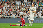 Real Madrid's Luka Modric and Atletico de Madrid's Antoine Griezmann during La Liga match between Real Madrid and Atletico de Madrid at Santiago Bernabeu Stadium in Madrid, Spain. September 29, 2018. (ALTERPHOTOS/A. Perez Meca)