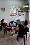 Israel, Tel Aviv-Yafo. Smoking Nargilas in Jaffa