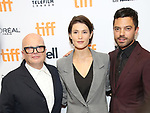 Dominic Savage, Gemma Arterton and Dominic Cooper attend 'The Escape' premiere during the 2017 Toronto International Film Festival at TIFF Bell Lightbox on September 12, 2017 in Toronto, Canada.