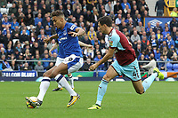 Dominic Calvert-Lewin of Everton during the Premier League match between Everton and Burnley at Goodison Park on October 1st 2017 in Liverpool, England. <br /> Calcio Everton - Burnley Premier League <br /> Foto Phcimages/Panoramic/insidefoto