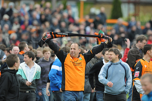 8.5.2010. Barnet Football Ground. Barnet fans leave the ground after the game. Barnet   1 - 0   Rochdale. Albert Jarrett scored a last-gasp winner for Barnet as the Bees secured their Football League survival.