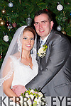 Mary Dunleavy, Currow daughter of Mary and Peter and Robbie Hogan, Dripsy, Cork son of Dave and the late Mary who were married in St Therese and Colmcuille (spelling Ger), church Currans on saturday, Fr Nicolas Flynn officiated at the ceremony, best man was Dave Hogan, groomsman was John O'Mahony, bridesmaids were Teresa and Sinead Dunleavy, the reception was in the Brehon they will reside in Currow