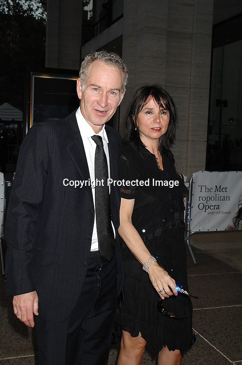 John McEnroe and wife Patty Smythe..arriving at The Metropolitan Opera 2007-08 Opening Night on September 24, 2007 at The Metropolitan Opera House..in Lincoln Center in New York City. ....photo by Robin Platzer, Twin Images ....212-935-0770