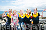 Team Dingle, l-r Grainne Mulpeter, Abbie Fitzgerald, Mary Fitzgerald, Trese McGovern and Bethany Moroney at the Maharees Regatta on Sunday