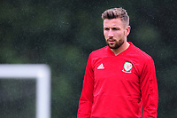 Paul Dummett Of Wales during the Wales Training Session and Press Conference at The Vale Resort in Cardiff, Wales. September 3, 2018
