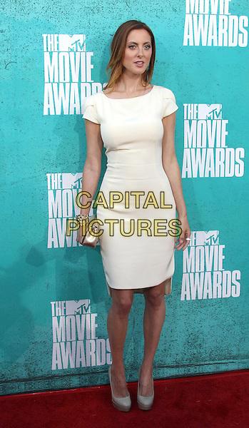 Eva Amurri Martino.2012 MTV Movie Awards held at the Gibson Amphitheatre, Universal City, California, USA..3rd June 2012.full length white dress  .CAP/ADM/SLP/LS.©Lee Sherman/Starlitepics/AdMedia/CapitalPictures.