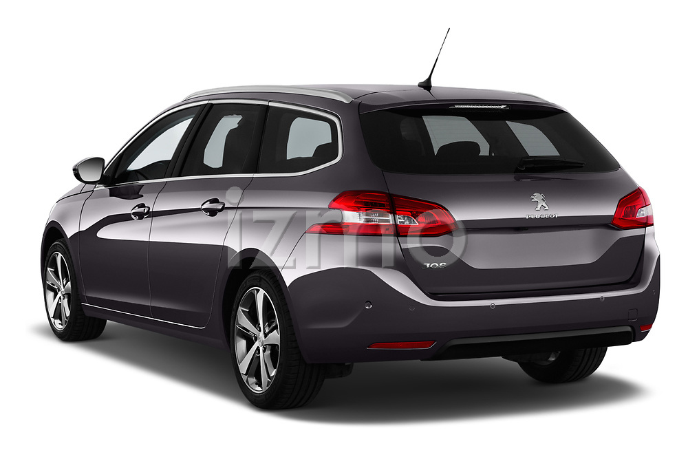 Car pictures of rear three quarter view of a 2018 Peugeot 308 SW Allure 5 Door Wagon angular rear