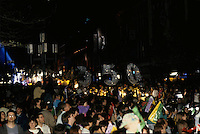 May 1992 File Photo - Montreal (Qc) CANADA - Ceremonies of Montreal 350th anniversary : night parade on Saint-Laurent Blvd