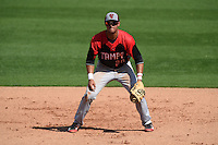 Tampa Spartans outfielder Andrew Amaro (20) during an exhibition game against the Philadelphia Phillies on March 1, 2015 at Bright House Field in Clearwater, Florida.  Tampa defeated Philadelphia 6-2.  (Mike Janes/Four Seam Images)