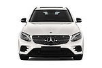 Car photography straight front view of a 2018 Mercedes Benz GLC Coupe base 5 Door SUV