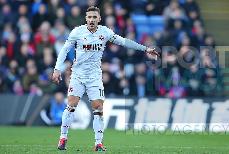 Sheffield United's Billy Sharp during the Premier League match at Selhurst Park, London. Picture date: 1st February 2020. Picture credit should read: Paul Terry/Sportimage