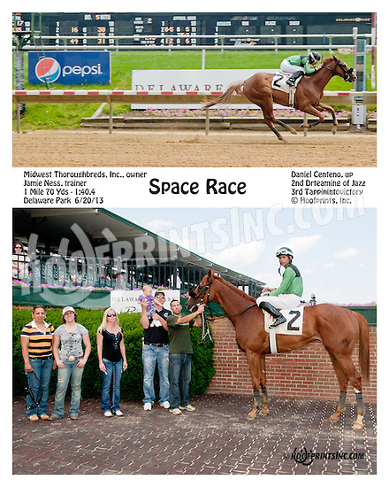 Space Race winning at Delaware Park on 6/20/13