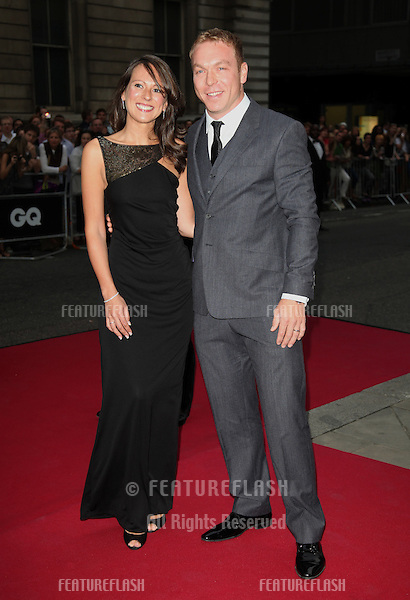 Chris Hoy and wife arriving for the 2012 GQ Men Of The Year Awards, Royal Opera House, London. 05/09/2012 Picture by: Alexandra Glen / Featureflash
