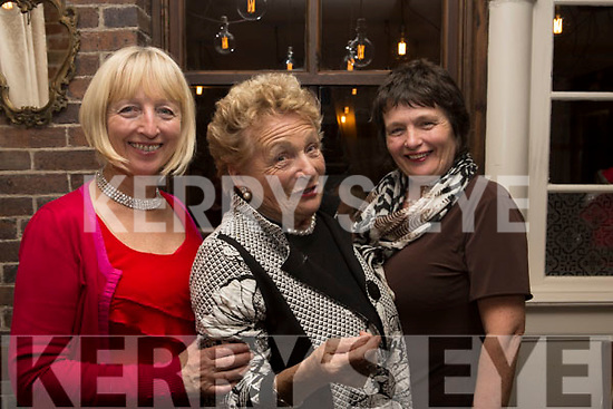 Bernie Finnerty (Fenit), Margaret Geaney (Castleisland) and Margaret Gurken (Castleisland) enjoying the Womens Little Christmas celebration by her daughters in the Croi Restaurant on Saturday night,