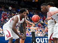 NWA Democrat-Gazette/CHARLIE KAIJO Arkansas Razorbacks guard Jaylen Barford (0) flexes following a score during the Southeastern Conference Men's Basketball Tournament, Thursday, March 8, 2018 at Scottrade Center in St. Louis, Mo.