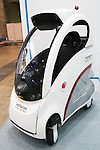 Hitachi's Ropits Self-Drive Vehicle on display at CEATEC Japan 2016 on October 3, 2016, Tokyo, Japan. CEATEC Japan is a cutting-edge IT and electronics exhibition. This year 648 companies and organisations are taking part from 24 different countries and the show is open to the public from October 4 to 7. (Photo by Rodrigo Reyes Marin/AFLO)