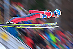 Jan Matura competes during the FIS Ski Jumping World Cup as part of the 4 Hills Tournament in Innsbruck, on January 4, 2015.