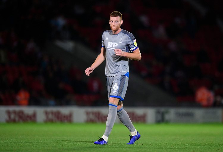 Lincoln City's Cian Bolger<br /> <br /> Photographer Chris Vaughan/CameraSport<br /> <br /> EFL Leasing.com Trophy - Northern Section - Group H - Doncaster Rovers v Lincoln City - Tuesday 3rd September 2019 - Keepmoat Stadium - Doncaster<br />  <br /> World Copyright © 2018 CameraSport. All rights reserved. 43 Linden Ave. Countesthorpe. Leicester. England. LE8 5PG - Tel: +44 (0) 116 277 4147 - admin@camerasport.com - www.camerasport.com