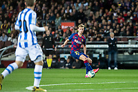 7th March 2020; Camp Nou, Barcelona, Catalonia, Spain; La Liga Football, Barcelona versus Real Sociedad; Frenkie de Jong of FC Barcelona looks to move towards the Sociedad box