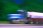 Speeding truck on highway