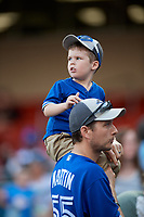 Buffalo Bisons fans during a game against the Lehigh Valley IronPigs on June 23, 2018 at Coca-Cola Field in Buffalo, New York.  Lehigh Valley defeated Buffalo 4-1.  (Mike Janes/Four Seam Images)