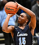 Belleville East guard Bryson Ivy takes aim and shoots. Belleville West played Belleville East  in a Class 4A boys basketball semifinal game at Belleville East High School in Belleville, Illinois on Wednesday March 4, 2020. <br /> Tim Vizer/Special to STLhighschoolsports.com