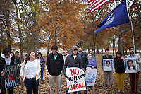 NWA Democrat-Gazette/CHARLIE KAIJO People end a  march at Park New Hope on Friday, November 10, 2017 during a rally and three mile march that started at Rogers High School in Rogers. Marchers met to express support for the Dream Act and TPS (Temporary Protective Status). The march in Rogers is the third of a four-city tour for supporters of Dreamers. The final march will be in Bentonville in December, mostly likely before Congress goes into recess, said Andrea Garcia, a spokesman for the group.
