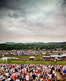 USA, Tennessee, Nashville, Iroquois Steeplechase, view of the track and fans from the top of the tower during the second race