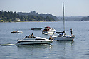 Boats on the water at Whaling Days festival, Silverdale, WA Kitsap County community event. Stock photography by Olympic Photo Group