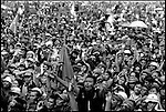 Summer '99-- Jakarta, Indonesia -- Megawati fans scream for her attention at a rally..