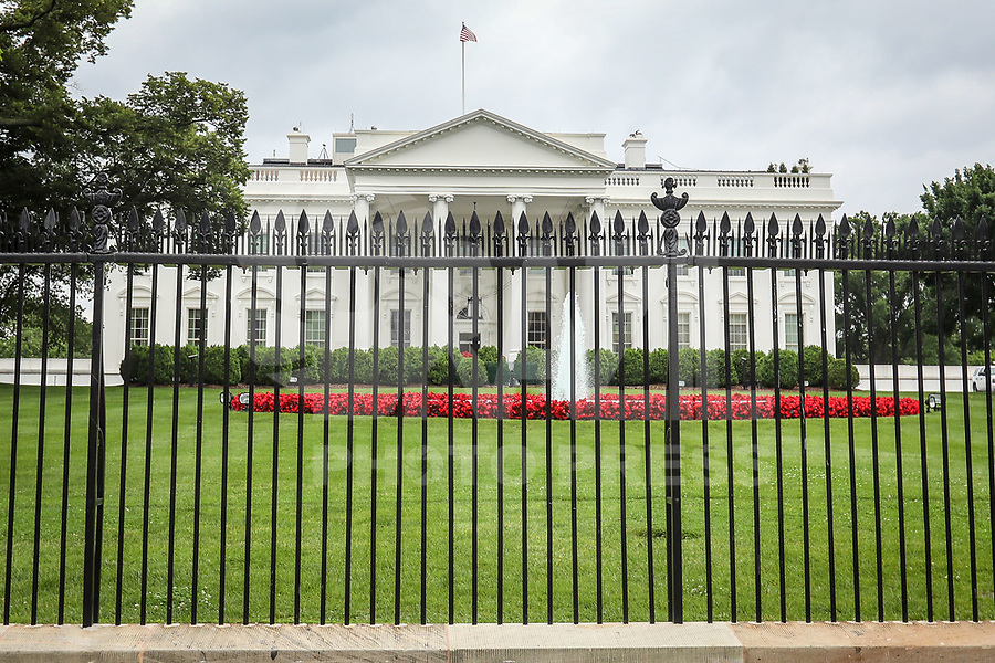 WASHINGTON, DC, 24.05.2017 - TURISMO-USA - Vista da Casa Branca é a residência oficial e principal local de trabalho do Presidente dos Estados Unidos, sendo, ao mesmo tempo, a sede oficial do poder executivo naquele país.(Foto: Vanessa Carvalho/Brazil Photo Press)