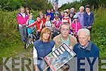 Launching a petition to open the Tralee to Fenit cycleway and walk on Tuesday evening were residents from Brendans Park and surrounding areas in front from lefy were  Mags Lynch, Colm McLoughlin and Joe Cotter.
