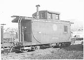 Short caboose #0501.<br /> D&amp;RGW  Durango, CO  Taken by Pennington, William - 8/1940
