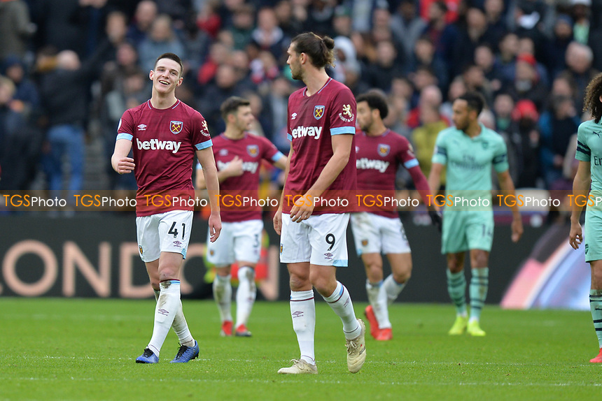 Declan Rice of West Ham United during West Ham United vs Arsenal, Premier League Football at The London Stadium on 12th January 2019