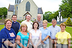 REMEMBERANCE: Athea residents who are raising funds to erect a memorial to the late Fr Jeremiah Roche who was murdered in Kenya last December, front l-r: Mary Ann Stack, Margaret Carroll, Yvonne O'Connor, Kathleen Mullane, Michael Woulfe, Peggy Casey. Back l-r: Sean Jones, Tom Hogan, Tom O'Keeffe.