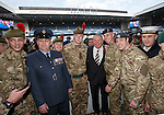 Rangers manager Ally McCoist with members of the armed services at Ibrox