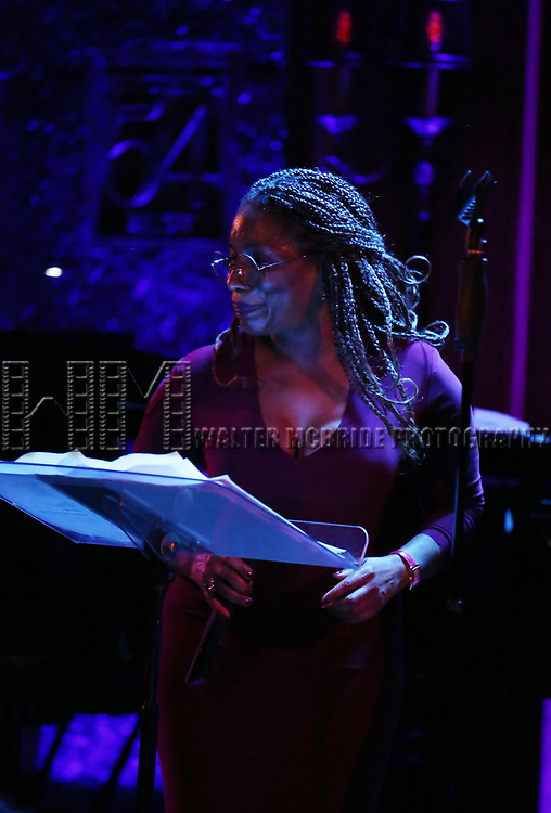 "Stephanie Mills on stage during a Song preview performance of the BeBe Winans Broadway Bound Musical ""Born For This"" at Feinstein's 54 Below on November 5, 2018 in New York City."