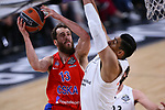 Turkish Airlines Euroleague.<br /> Final Four - Vitoria-Gasteiz 2019.<br /> Semifinals.<br /> CSKA Moscow vs Real Madrid: 95-90.<br /> Sergio Rodriguez vs Gustavo Ayon.