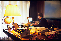 Bill Gates Photographed in his home office, Bellvue WA.