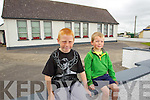 Getting ready to go back to school Mikey Clifford and Peter Hinchwe pictures outside Abbeydorney primary school.