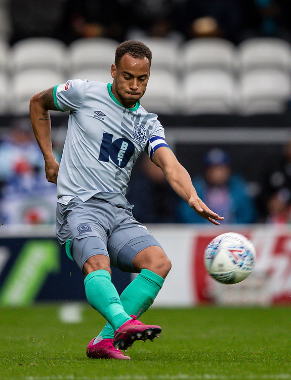 Blackburn Rovers' Elliott Bennett <br /> <br /> Photographer Andrew Kearns/CameraSport<br /> <br /> The EFL Sky Bet Championship - Queens Park Rangers v Blackburn Rovers - Saturday 5th October 2019 - Loftus Road - London<br /> <br /> World Copyright © 2019 CameraSport. All rights reserved. 43 Linden Ave. Countesthorpe. Leicester. England. LE8 5PG - Tel: +44 (0) 116 277 4147 - admin@camerasport.com - www.camerasport.com