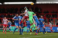 Danny Newton of Stevenage goes close to a goal during Stevenage vs Notts County, Sky Bet EFL League 2 Football at the Lamex Stadium on 11th November 2017